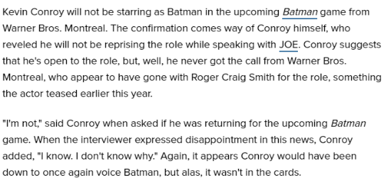 《蝙蝠侠阿甘》老爷配音不会回归 新作或由华纳自研