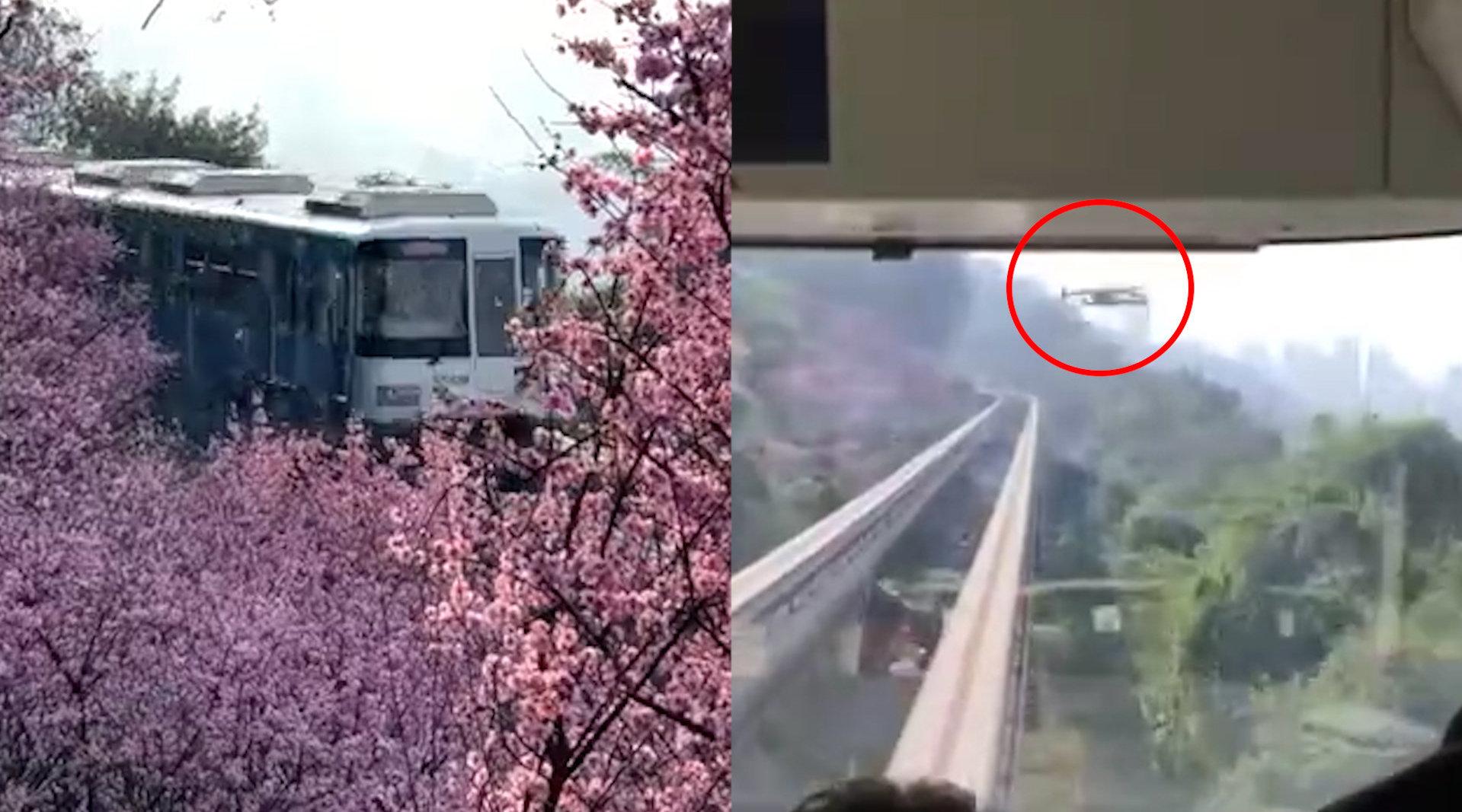 重庆开往春天的轻轨撞上无人机什么情况?官方回应放飞者已违反相关规定