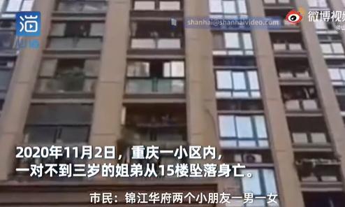 重庆两幼童坠亡生父被捕 妈妈回应两幼童坠亡生父被捕