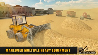沙挖掘机起重机模拟器3D软件截图1