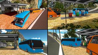 越野山地长途公共汽车驾驶模拟器 2017软件截图2
