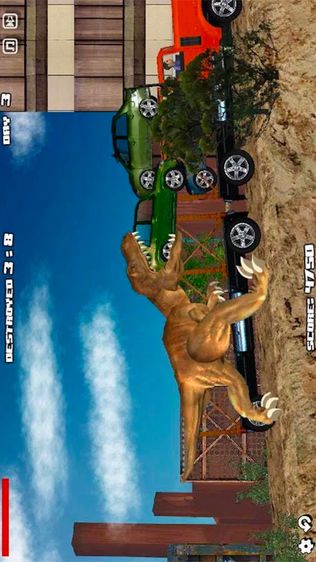 侏罗纪霸王龙入侵城市软件截图0