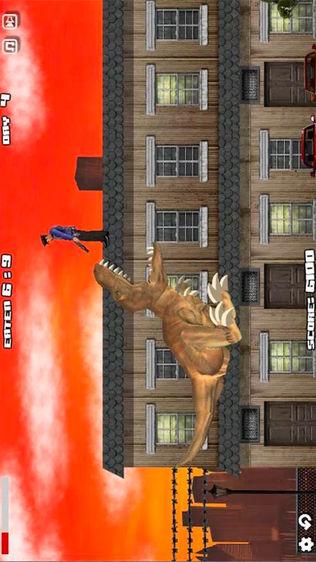 侏罗纪霸王龙入侵城市软件截图1