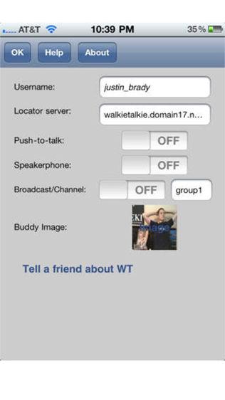 WalkieTalkie VOIP软件截图1