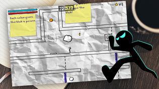 火柴人纸上涂鸦跑酷大冒险软件截图1