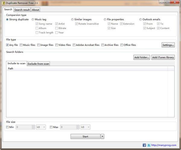 Duplicate Remover Free(重复文件删除工具)下载