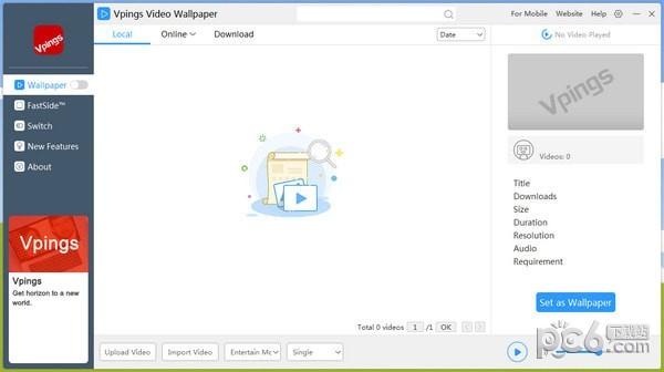 Vpings Video Wallpaper(视频桌面软件)下载