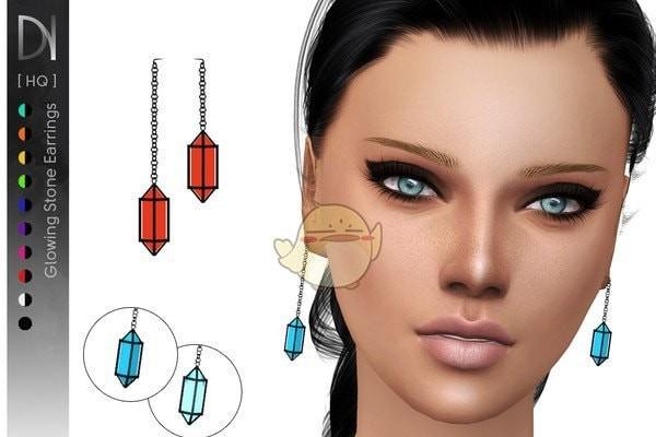 模拟人生4棱形小型耳环MOD下载