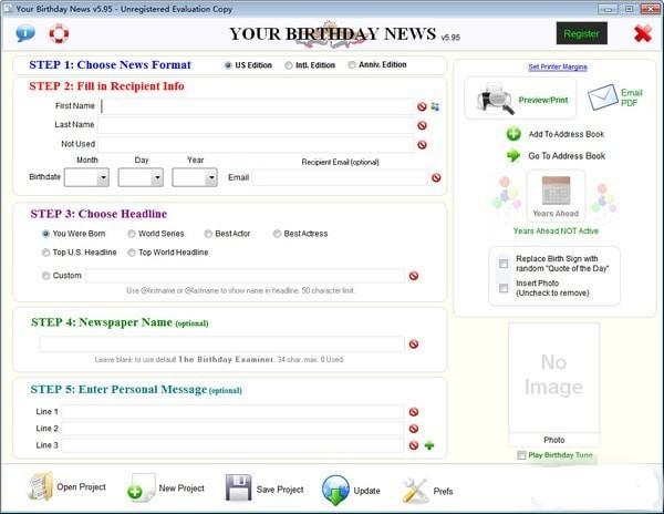 Your Birthday News(生日报纸制作软件)下载