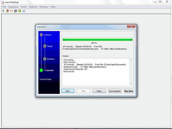JsonToMsSql(Json导入SQL Server数据库工具)下载