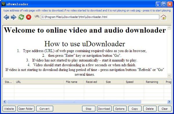 uDownloader(在线音频视频下载工具)下载