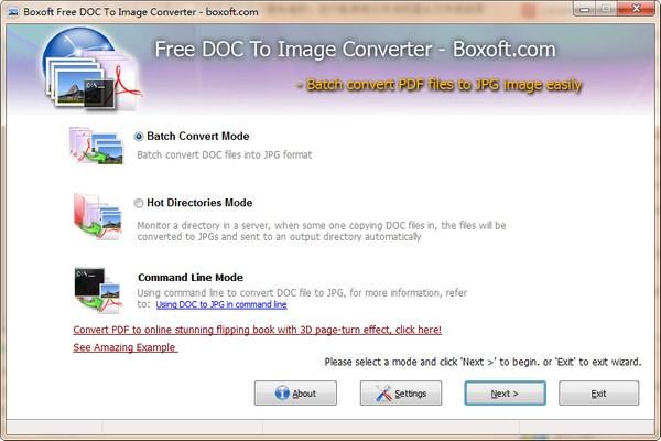 Boxoft Free DOC to Image Converter下载
