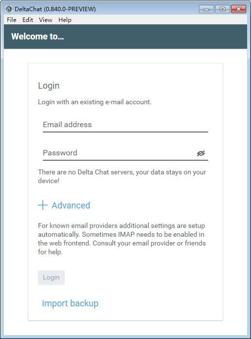 DeltaChat(邮件IM即时通讯工具)下载