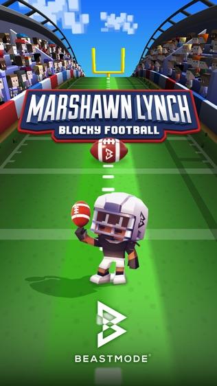 Marshawn Lynch Blocky Football软件截图0