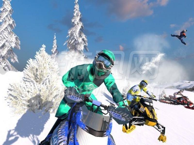 雪地摩托自由竞赛 英文版下载
