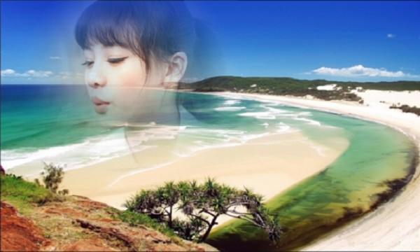 浪漫沙滩相框软件截图1
