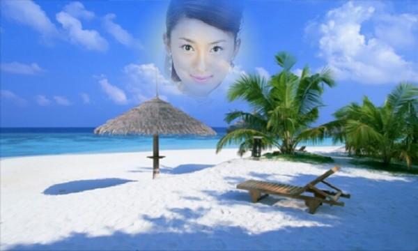 浪漫沙滩相框软件截图2