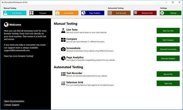 BrowseEmAll Enterprise(多浏览器测试工具)下载