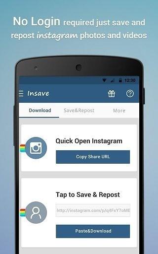 Insave图片保存转发器app软件截图2