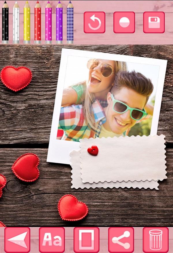 浪漫相机贴纸