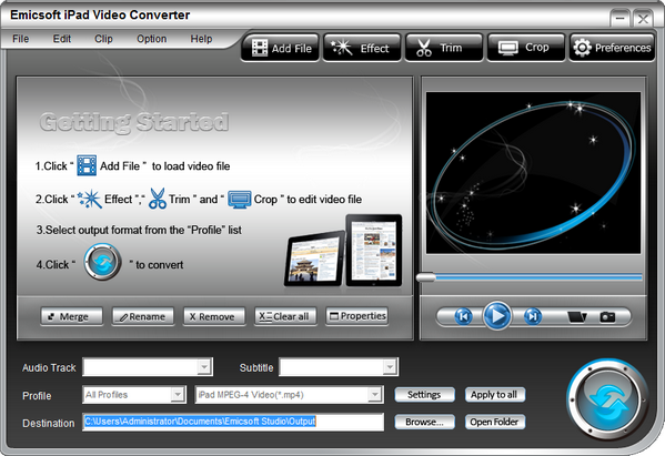 Emicsoft iPad Video Converter(IPAD视频转换器)下载