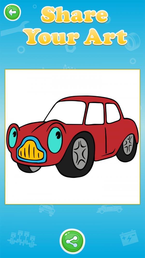 宝宝爱涂色汽车篇软件截图2