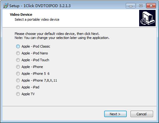 1CLICK DVDTOIPOD(DVD视频转换工具)下载