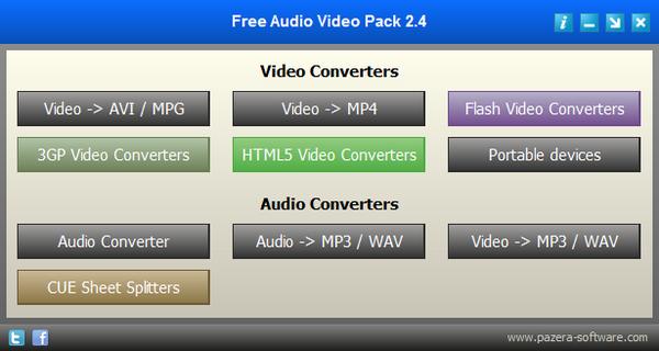 Free Audio Video Pack(视频格式转换器)