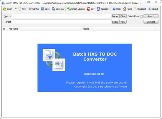 Batch HXS TO DOC Converter(HXS转Word转换器)