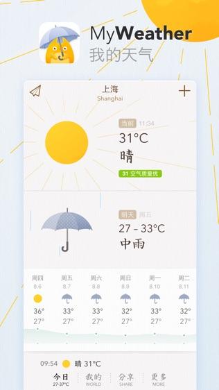 我的天气 · MyWeather软件截图0