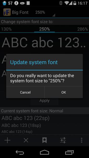 系统字体设置(Big Font)
