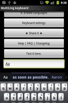 MultiLing Keyboard
