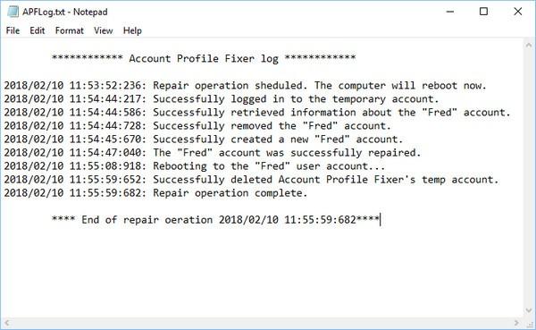 Account Profile Fixer(帐户设定档修复工具)下载