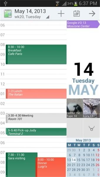 安卓日历aCalendar+软件截图0