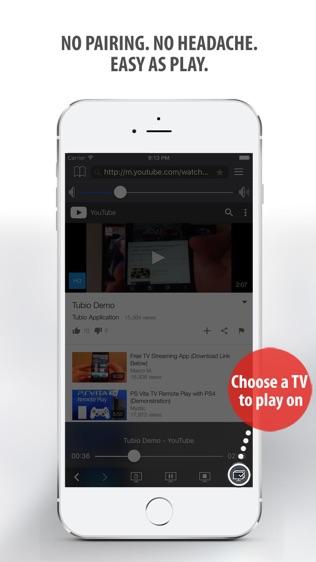 Tubio—将网络视频投影到电视上软件截图2