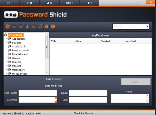 Password Shield(账号密码保存软件)