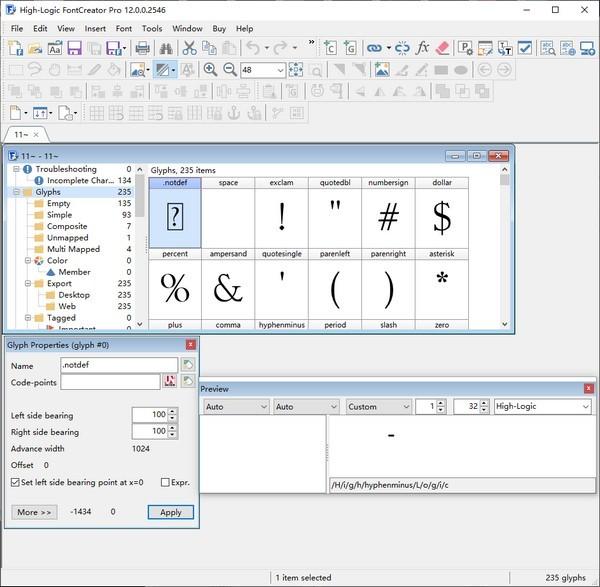 High Logic FontCreator Pro(字体制作软件)