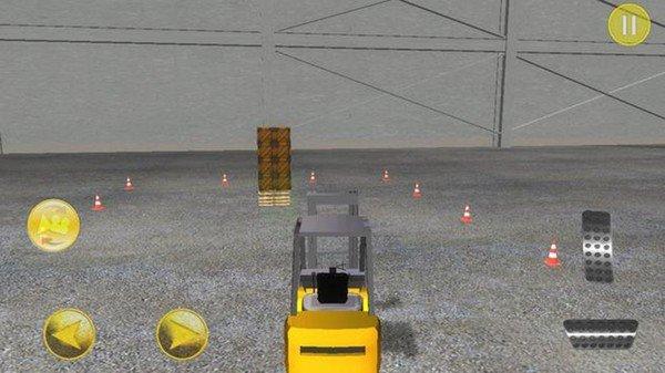 立体叉车停车驾驶