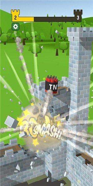 大炮射击摧毁城堡软件截图3