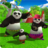 野生熊猫家族
