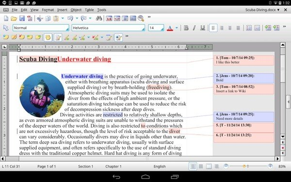 TextMaker HD软件截图1