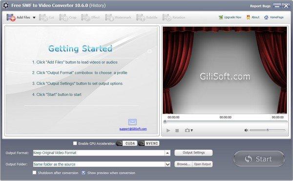 Free SWF to Video Converter(免费Swf到视频转换器)下载