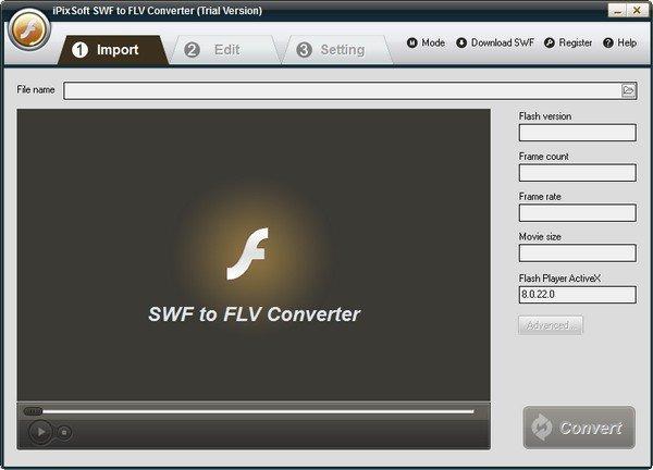 iPixSoft SWF to FLV Converter(SWF转FLV软件)下载