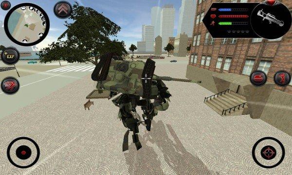 城市作战坦克机器人