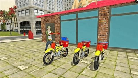 骑摩托送披萨模拟器