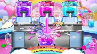 独角兽的彩虹冰淇淋