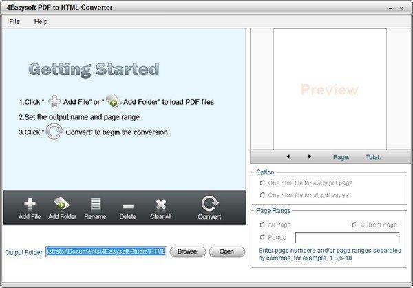 4Easysoft PDF to HTML Converter(PDF转HTML软件)