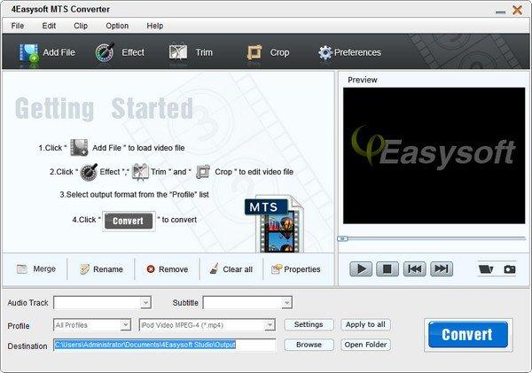 4Easysoft MTS Converter(MTS视频转换器)下载