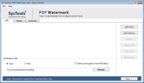 SysTools PDF Watermark(PDF水印去除工具)下载