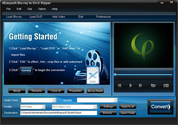 4Easysoft Blu-ray to DivX Ripper(视频转换器)